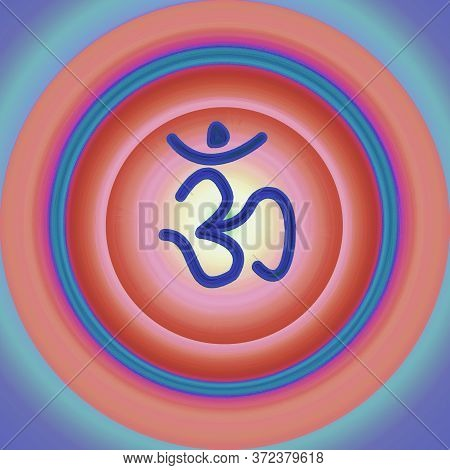Om And  Colorful Meditation Background Design Work