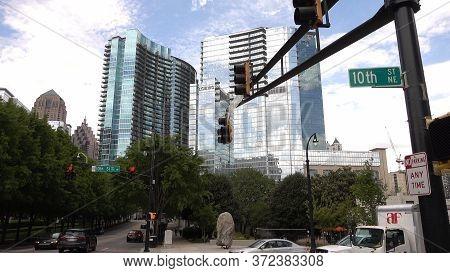 Skyscrapers At Midtown Atlanta - Atlanta, Georgia - April 20, 2016
