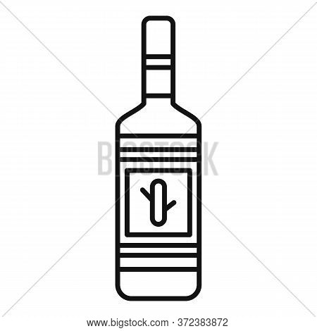Tequila Bottle Icon. Outline Tequila Bottle Vector Icon For Web Design Isolated On White Background