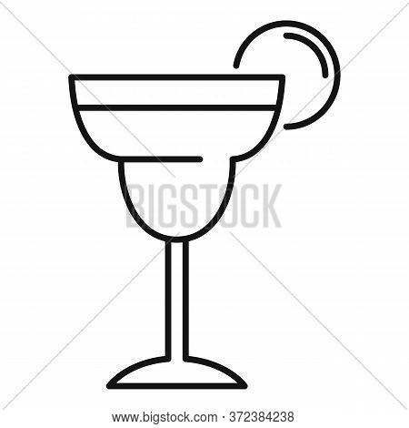 Tequila Cocktail Icon. Outline Tequila Cocktail Vector Icon For Web Design Isolated On White Backgro