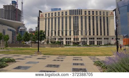 Hilton Nashville Downtown Hotel And Walk Of Fame Park - Nashville, Usa - June 17, 2019