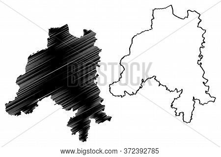 Clervaux Canton (grand Duchy Of Luxembourg, Administrative Divisions) Map Vector Illustration, Scrib