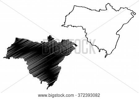 Grevenmacher Canton (grand Duchy Of Luxembourg, Administrative Divisions) Map Vector Illustration, S