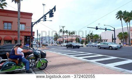 Street Corner On International Speedway Blvd In Daytona - Daytona Beach, Florida - April 14, 2016