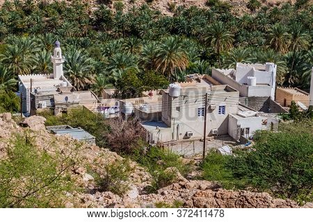 Small Village In Wadi Tiwi Valley, Oman