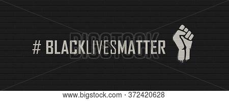 Black Lives Matter Hashtag On A Brick Wall. Vector Illustration Eps10