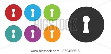 Black Keyhole Icon Isolated On White Background. Key Of Success Solution. Keyhole Express The Concep