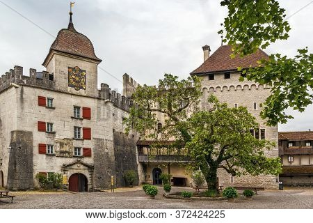 East Bastion In Lenzburg Castle Was Constructed In 1646, Switzerland