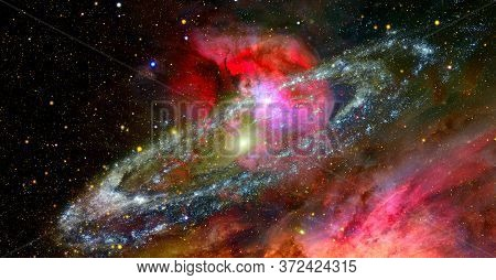 Spirals And Supernovae. Elements Of This Image Furnished By Nasa