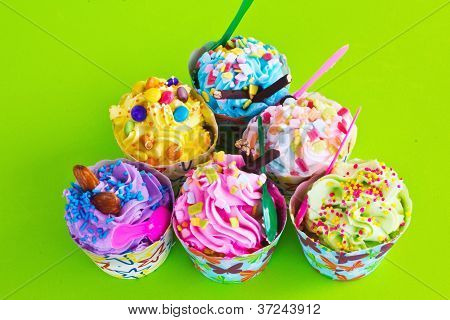 Colorful Of Cupcake
