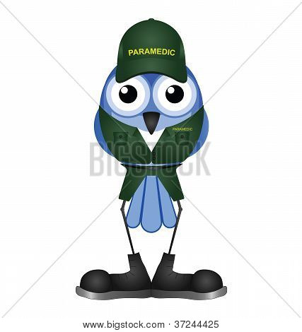 Bird healthcare paramedic isolated on white background poster