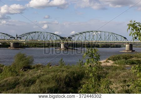 Fordon Bridge Rudolf Modrzejewski - A Rail-road Bridge, With A Lattice Structure, On The Vistula Riv