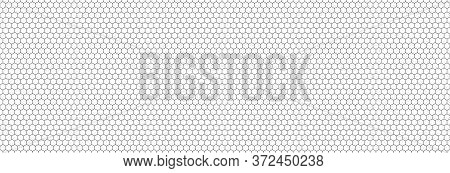 Honeycomb Hexagon Background Pattern. Vector Isolated Texture. Comb Seamless Texture Design. Vector