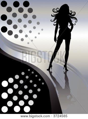 Beautiful Female Sexy Lady Silhouette