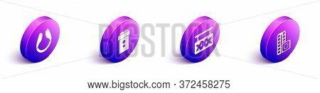 Set Isometric Dildo Vibrator, Vagina Masturbator, Sex Shop And Birth Control Pills And Condom Icon.