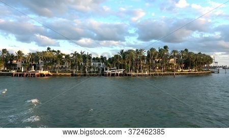 Beautiful And Exclusive Islands Between Miami And Miami Beach - Miami, Florida April 10, 2016