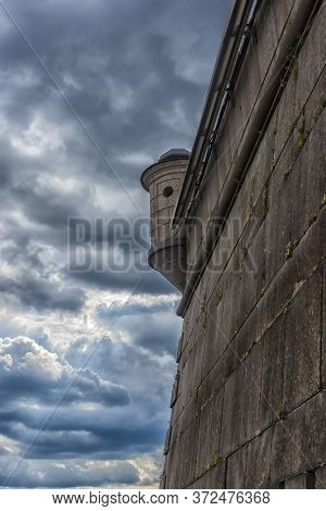 Russia, St. Petersburg, The Wall Of The Bastion Of The Peter And Paul Fortress