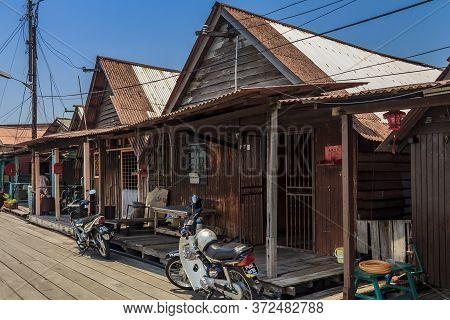 Georgetown, Penang, Malaysia - August 23, 2013: Chew Jetty, Small Village Built On Water By Chinese