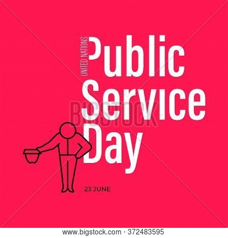 Illustration Design About  United Nations Public Service Day