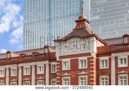 Tokyo Station , A Railway Station In The Marunouchi Business District Of Chiyoda , Tokyo , Japan. To