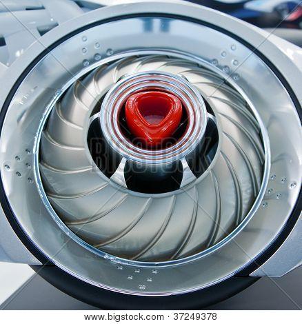 Futuristic turbine of starship
