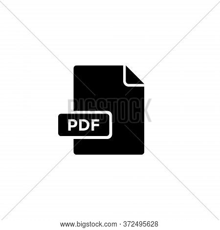 Pdf File Icon In Trendy Style. Portable Document Format Vector