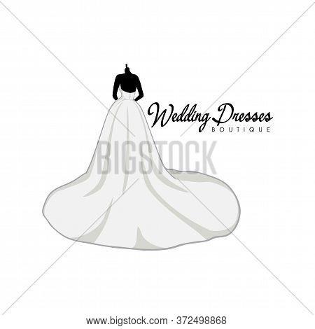 Bridal Boutique Logo, Bridal Gown Logo Vector Design Template
