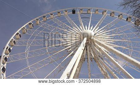 Skyview Atlanta Ferris Wheel At Centennial Olympic Park - Atlanta, Georgia - April 20, 2016