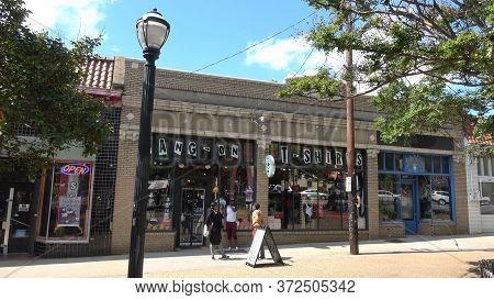 Colorful Shops In Little 5 Points Atlanta - Atlanta, Georgia - April 22, 2016