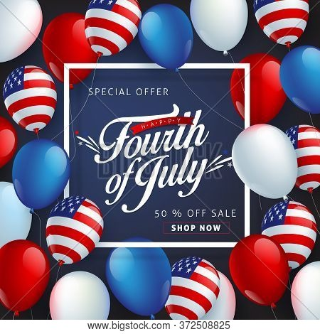 Independence Day Usa Sale Banner Template .4th Of July Celebration Poster Template.fourth Of July.