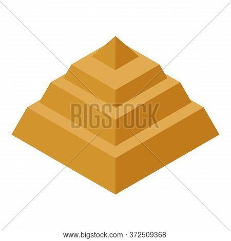 Step Pyramid Icon. Isometric Of Step Pyramid Vector Icon For Web Design Isolated On White Background