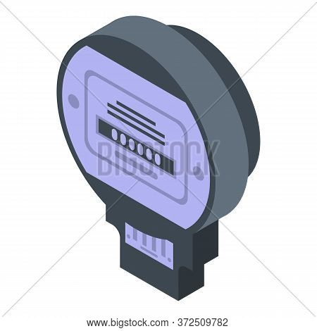 Electric Meter Icon. Isometric Of Electric Meter Vector Icon For Web Design Isolated On White Backgr
