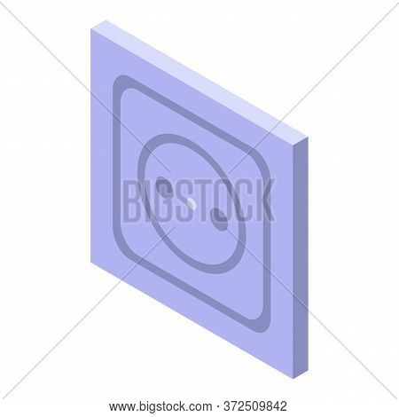 Power Socket Icon. Isometric Of Power Socket Vector Icon For Web Design Isolated On White Background