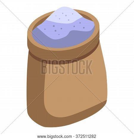 Open Flour Sack Icon. Isometric Of Open Flour Sack Vector Icon For Web Design Isolated On White Back