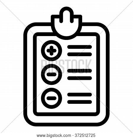 Tax Inspector Clipboard Icon. Outline Tax Inspector Clipboard Vector Icon For Web Design Isolated On