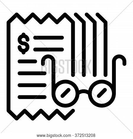 Tax Inspector Eyeglasses Icon. Outline Tax Inspector Eyeglasses Vector Icon For Web Design Isolated