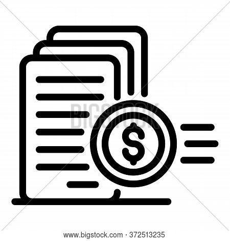 Money Declaration Icon. Outline Money Declaration Vector Icon For Web Design Isolated On White Backg