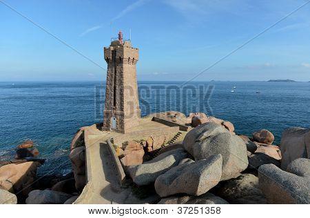 old lighthouse on the rocks