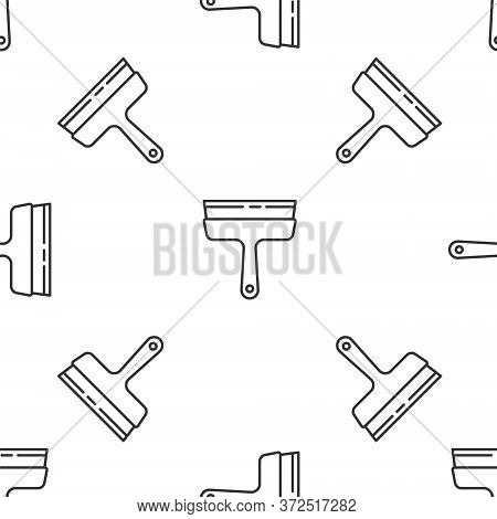 Grey Line Cleaning Service With Of Rubber Cleaner For Windows Icon Isolated Seamless Pattern On Whit