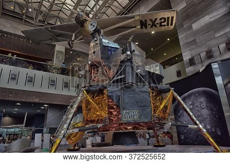 Washington, Dc - 24.06.2016: Smithsonian National Air And Space Museum In Washington, Dc, As Seen On