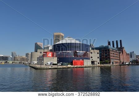 26.06.2016 Usa, Baltimore . View Of Inner Harbor Area In Downtown Baltimore Maryland Usa