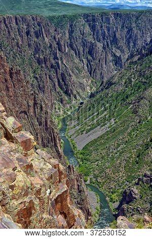 Landscape Black Canyon Of The Gunnison National Park, Colorado, Usa.