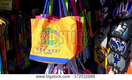 Souvenir Shop In Key West Florida - Key West, Florida - April 12, 2016