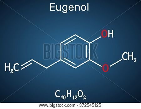 Eugenol, Clove Essential Oil Molecule. Is Used As Flavoring For Foods And Teas And As Herbal Oil To