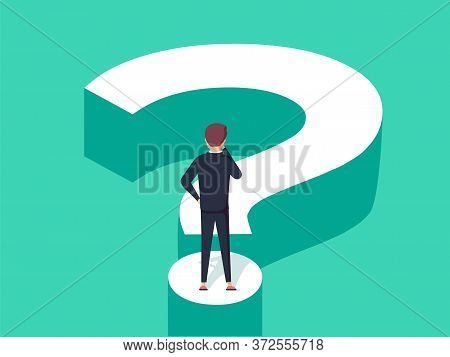 Choice Process Flat Vector Illustration. Direction Choose Options, Solution, Decision. Abstract Conf
