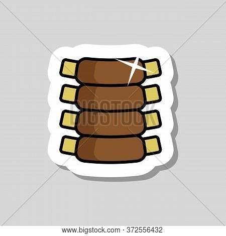 Ribs Vector Icon Food Meat. Barbecue And Bbq Grill Sign. Graph Symbol For Cooking Web Site And Apps