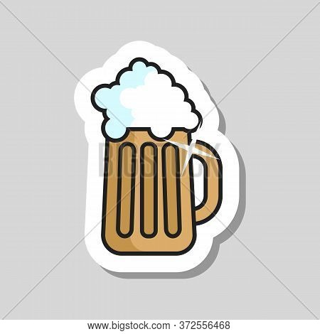 Beer Glass Vector Icon. Barbecue And Bbq Grill Sign. Graph Symbol For Cooking Web Site And Apps Desi