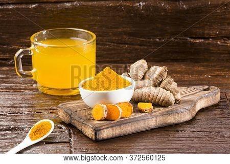 Turmeric And Water, Healthy Drink - Curcuma Longa