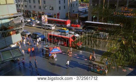 The Walk Of Fame In Hollywood - View From Hollywood And Highland Center - Los Angeles, Usa - April 2