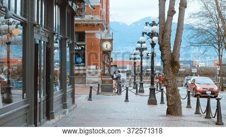 The Famous Steam Clock In Vancouver - City Of Vancouver, Canada - April 11, 2017